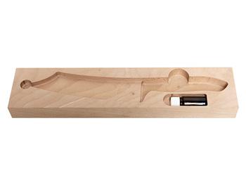 Teufelskerl 18,5 cm ROSTFREI Esche stabilisiert Serie anno 2019